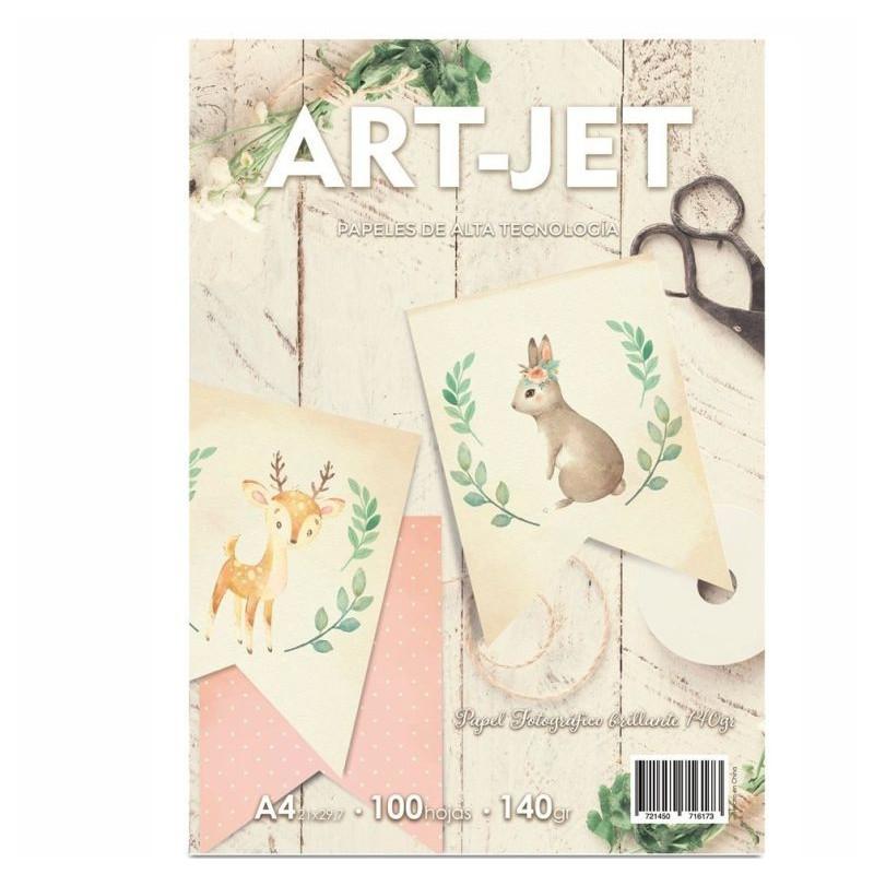 Papel Fotográfico A4 140 gr. Brillante x 100 hojas - Art Jet