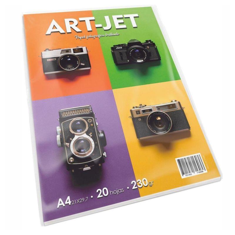 Papel Fotográfico A4 230 gr. Brillante x 20 hojas - Art Jet