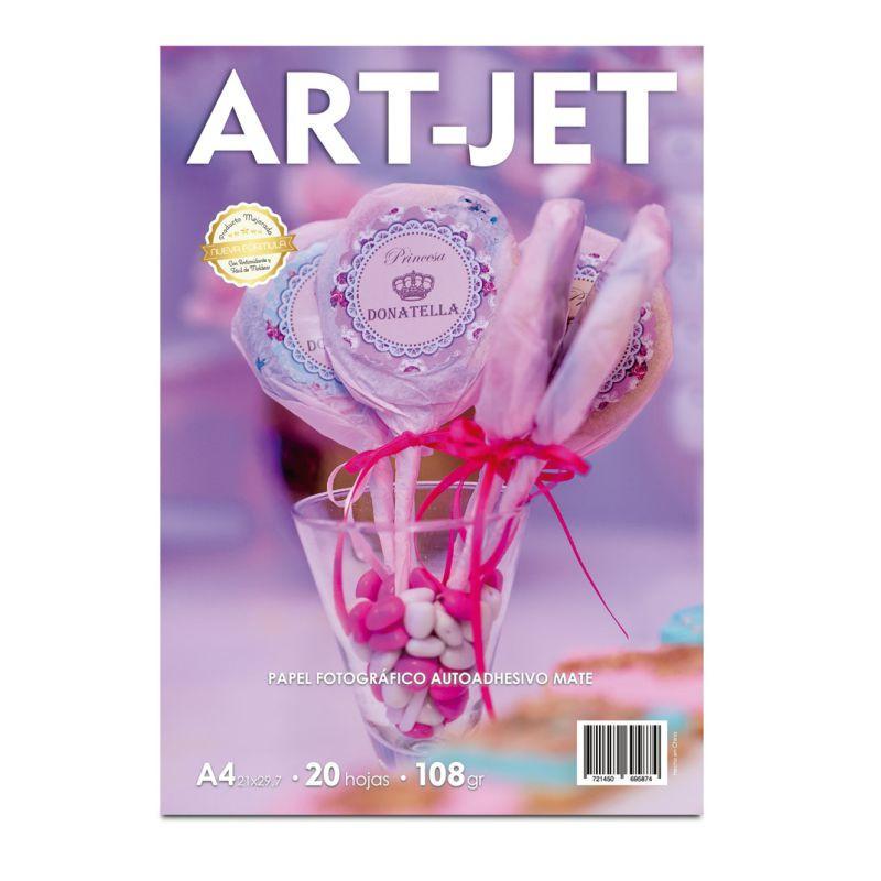 Papel Fotográfico Autoadhesivo A4 108 gr. Mate x 20 hojas - Art-Jet