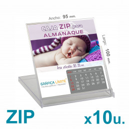 Caja ZIP Porta Calendario /...