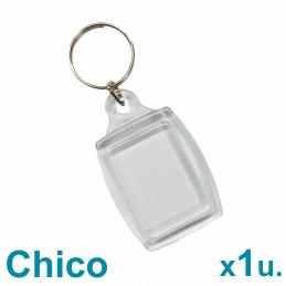 Llavero Acrílico 2.5x3.5cm. Chico Transparente x1 u. Para Foto / Publicidad