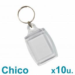 Llaveros Acrílicos 2.5x3.5cm. Chicos Transparentes x10 u. Para Foto / Publicidad