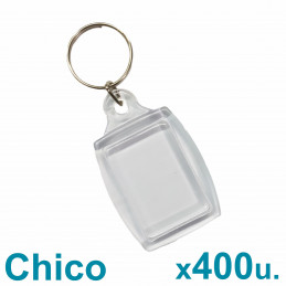 Llaveros Acrílicos 2.5x3.5cm. Chicos Transparentes BULTO x400 u. Para Foto / Publicidad