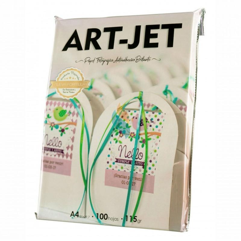 Papel Fotográfico Autoadhesivo A4 115 gr. Brillante x 100 hojas - Art Jet