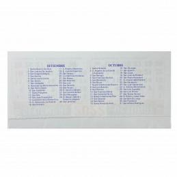 Almanaque Calendario Mignon Bi Mensual 14x8 cm. Con Troquelado x500u.