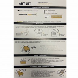 Papel Transfer Prendas Oscuras A3 x 10 hojas - Art Jet