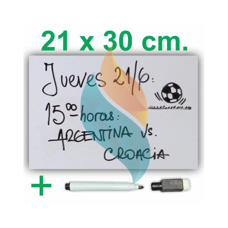 Pizarra Planner Organizador Imantado Blanca 21 x 30 cm Con Marcador