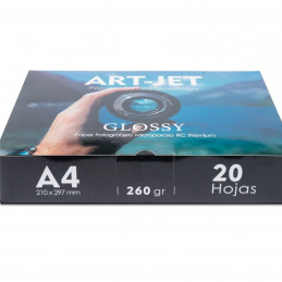 Papel Fotográfico Profesional A4 260 gr. Ultra Glossy x 20 hojas - Art-Jet