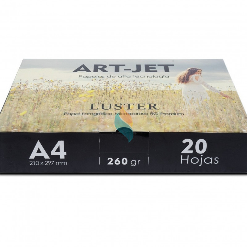 Papel Fotográfico Profesional A4 260 gr. Fine Luster x 20 hojas - Art-Jet