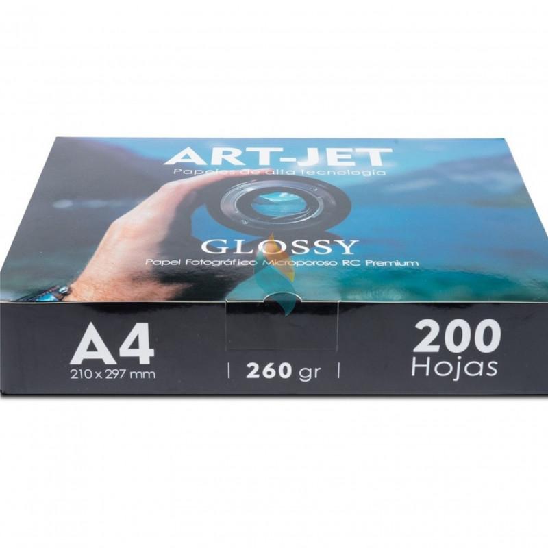 Papel Fotográfico Profesional A4 260 gr. Ultra Glossy x 200 hojas - Art-Jet