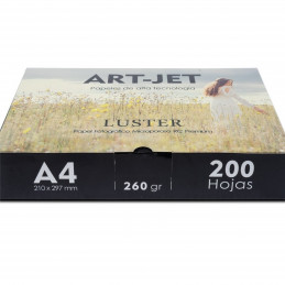Papel Fotográfico Profesional A4 260 gr. Fine Luster x 200 hojas - Art-Jet