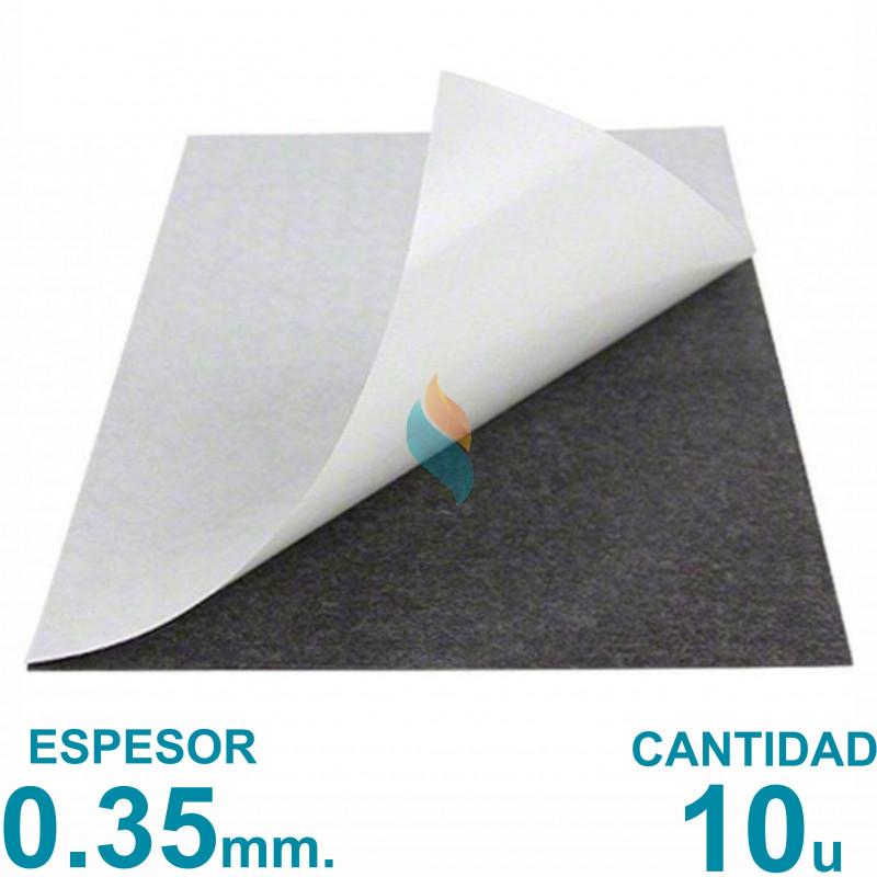 Plancha imán Autoadhesivo  A4 (21x29.7cm) x10 uni. - Grosor 0.35mm - Premium