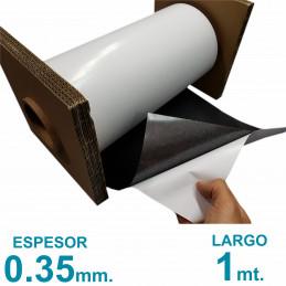 Rollo imán Autoadhesivo 1 mt. x 31 cm. - Grosor 0.35mm - Premium
