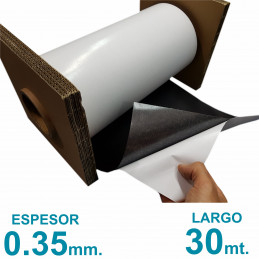 Rollo imán Autoadhesivo 30 mt. x 31 cm. Bulto Cerrado - Grosor 0.35mm - Premium