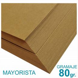 Papel Kraft Misionero 120 x 85cm. 80 gr. Madera Marron Precio Mayorista