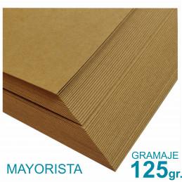 Papel Kraft Misionero 120 x 85cm. 125 gr. Madera Marrón Precio Mayorista
