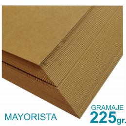 Papel Kraft Misionero 120 x 85cm. 225 gr. Madera Marrón Precio Mayorista