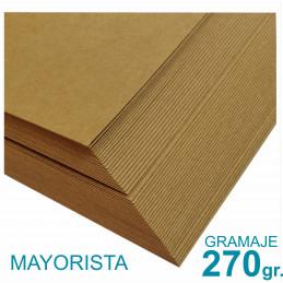 Papel Kraft Misionero 120 x 85cm. 270 gr. Madera Marrón Precio Mayorista