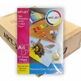 Papel Fotográfico A4 110 gr. Mate x 2000 hojas - Art Jet PRECIO MAYORISTA