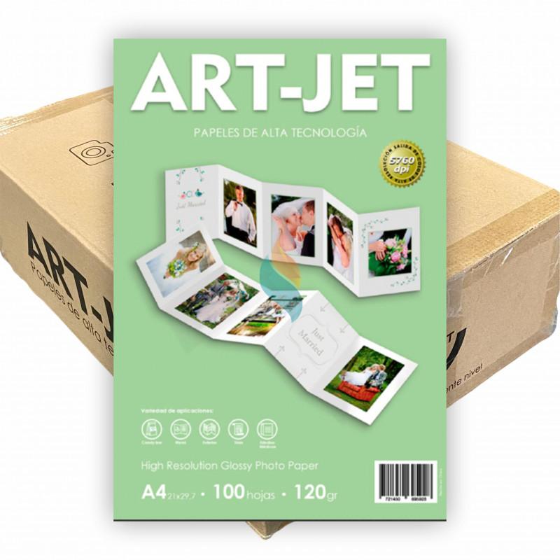 Papel Fotográfico A4 120 gr. Brillante x 2000 hojas - Art Jet