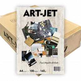 Papel Fotográfico A4 160 gr. Brillante x 2000 hojas - Art Jet