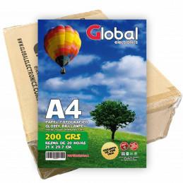 Papel Fotográfico A4 200 gr. Brillante x 1000 hojas - Global PRECIO MAYORISTA