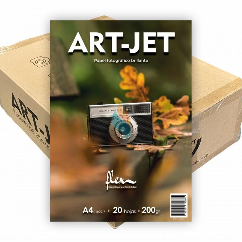 Papel Fotográfico A4 200 gr. FLEX Brillante x 1000 hojas - Art Jet PRECIO MAYORISTA