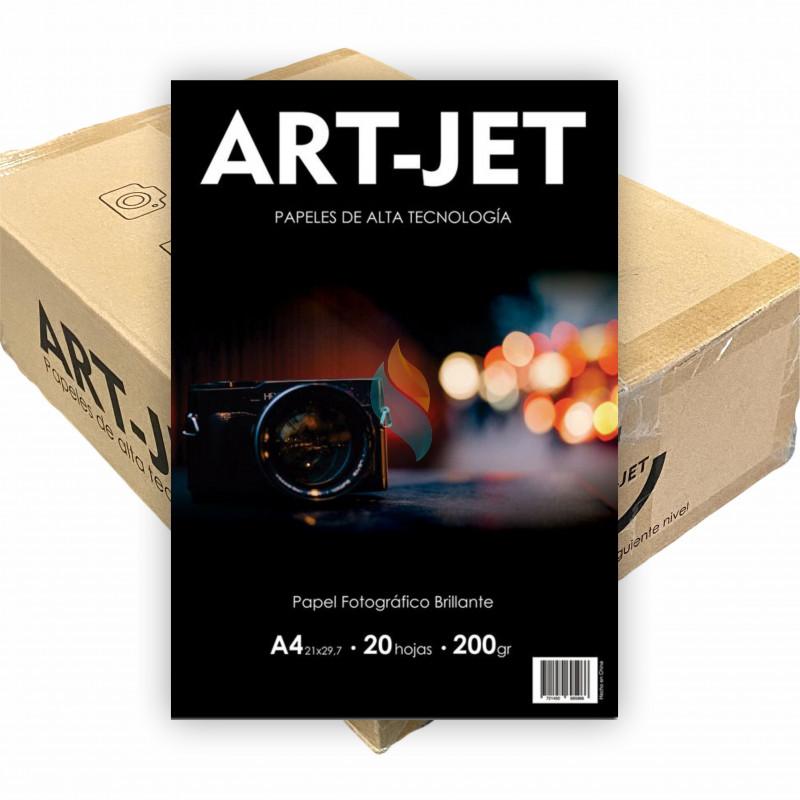 Papel Fotográfico A4 200 gr. Brillante x 1000 hojas - Art Jet PRECIO MAYORISTA