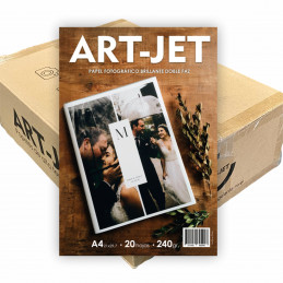 Papel Fotográfico A4 240 gr. Brillante, Doble Faz, x 1000 hojas - Art Jet PRECIO MAYORISTA