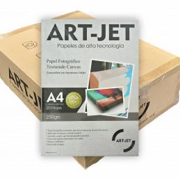 Papel Fotográfico Canvas A4 250 gr. Texturado x 1000 hojas - Art Jet PRECIO MAYORISTA