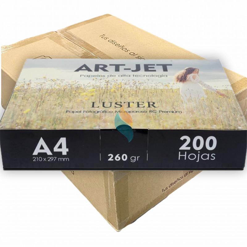 Papel Fotográfico Profesional A4 260 gr. Fine Luster x 1200 hojas - Art-Jet PRECIO MAYORISTA
