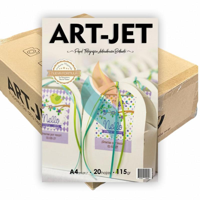 Papel Fotográfico Autoadhesivo A4 115 gr. Brillante x 1000 hojas - Art Jet PRECIO MAYORISTA