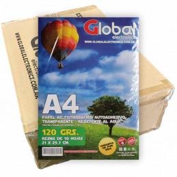 Vinilo Transparente Fotográfico Autoadhesivo A4 120 gr. x 1000 hojas - Global PRECIO MAYORISTA