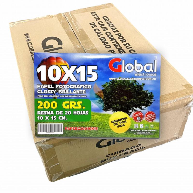 Fotográfico 10x15cm 200 gr. Brillante x 4000 hojas - Global Precio MAYORISTA