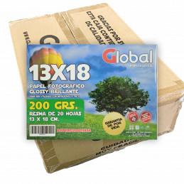 Papel Fotográfico 13x18cm 200 gr. Brillante x 2500 hojas - Global PRECIO MAYORISTA