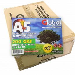 Papel Fotográfico 15x20cm 200 gr. Brillante x 2000 hojas - Global PRECIO MAYORISTA