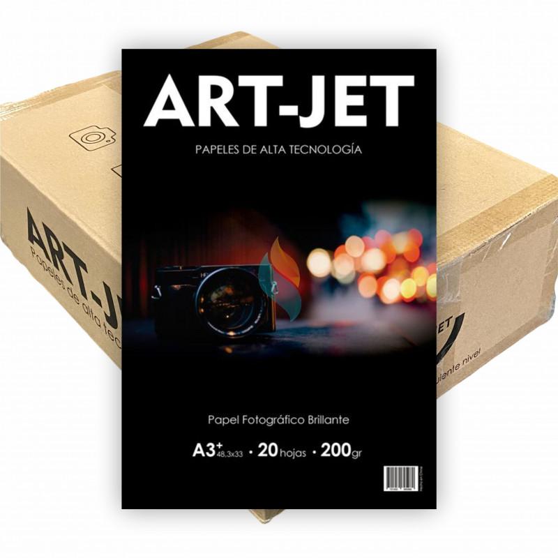 Papel Fotográfico A3+ 200 gr. Brillante x 500 hojas - Art Jet PRECIO MAYORISTA