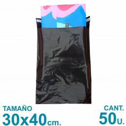 Bolsas Ecommerce 30x40 cm. Con Adhesivo Inviolable x50 u. Negras