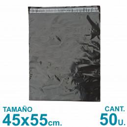 Bolsas Ecommerce 45x55 cm. Con Adhesivo Inviolable x50 u. Negras