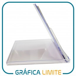 Caja CD Porta Calendario / Almanaque x 1 u. Acrílica Plástica Transparente