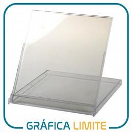 Caja CD Porta Calendario / Almanaque BULTO x100 u. Acrílica Plástica Transparente