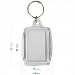 Llaveros Acrílicos 3x4.5cm. Medianos Transparente BULTO x250 u. Para Foto / Publicidad