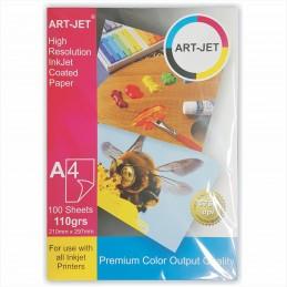 Papel Fotográfico A4 110 gr. Mate x 100 hojas - Art Jet