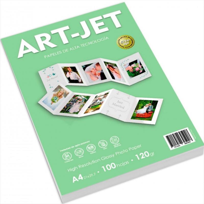 Papel Fotográfico A4 120 gr. Brillante x 100 hojas - Art Jet
