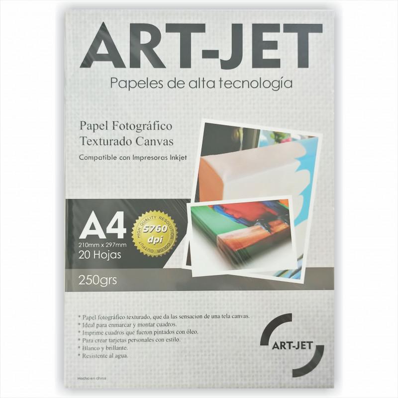 Papel Fotográfico Canvas A4 250 gr. Texturado x 20 hojas - Art Jet