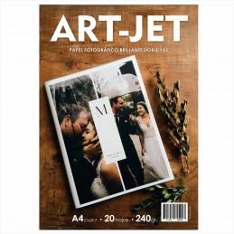 Papel Fotográfico A4 240 gr. Brillante, Doble Faz, x 20 hojas - Art Jet