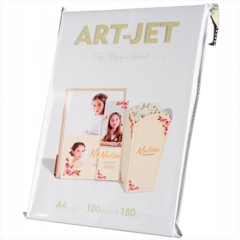 Papel Fotográfico A4 180 gr. Brillante x 100 hojas - Art Jet