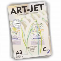 Papel Fotográfico Autoadhesivo A3 115 gr. Brillante x 20 hojas - Art Jet