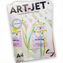 Papel Fotográfico Autoadhesivo A4 115 gr. Brillante x 20 hojas - Art Jet