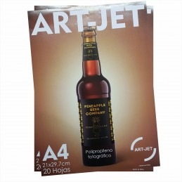 Vinilo Blanco Fotográfico Autoadhesivo A4 130 gr. x 20 hojas - Art Jet